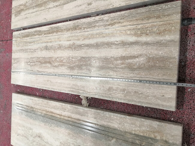 Silver Travertine Tiles Inspecition Before Packing