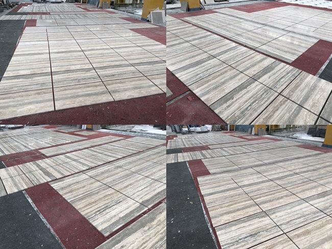 Silver Travertine Tiles Layout