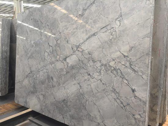 polished blue bahia granite slab