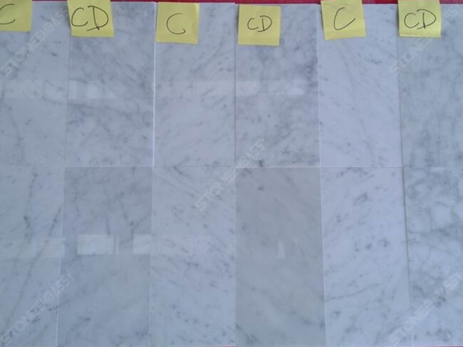 cararara white marble quality levels