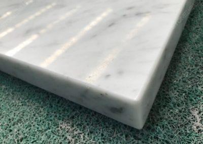 carrara white marble top mitered edge
