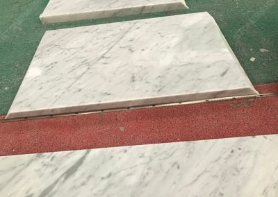 carrara white marble top with plywood backing
