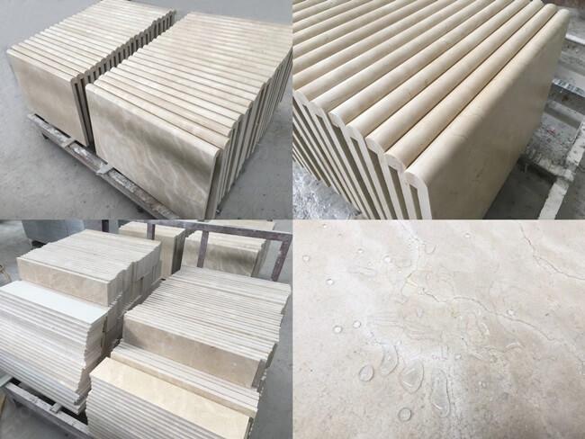 crema marfil marble steps&risers