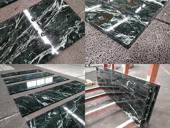 emerald green marble tiles