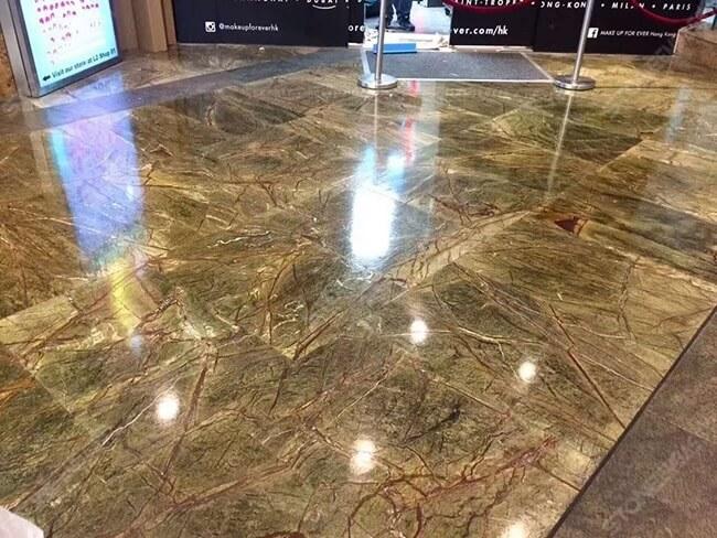 rainforest green marble flooring tiles