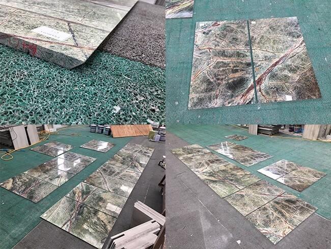 rainforest green marble tiles