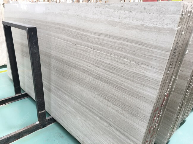 Honed Slab Ready to Cut White Wooden Tile