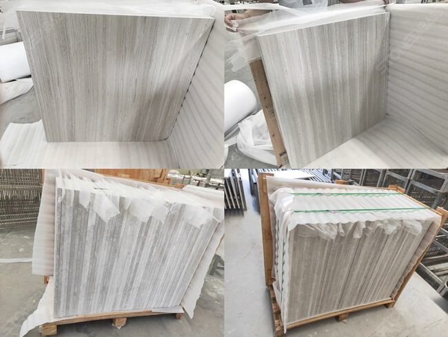 Packing of White Wooden Tile