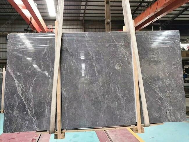 SEGS20214 Instock Polished Grey Emperador Slabs 2750x1430x18mm