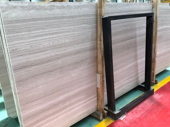 Slabs for Cutting White Wooden Tile
