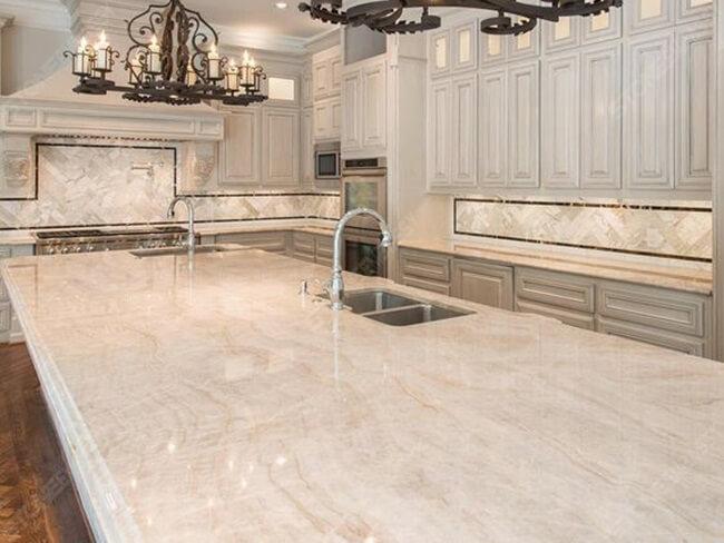 Taj Mahal Quartzite for Kitchen Countertop