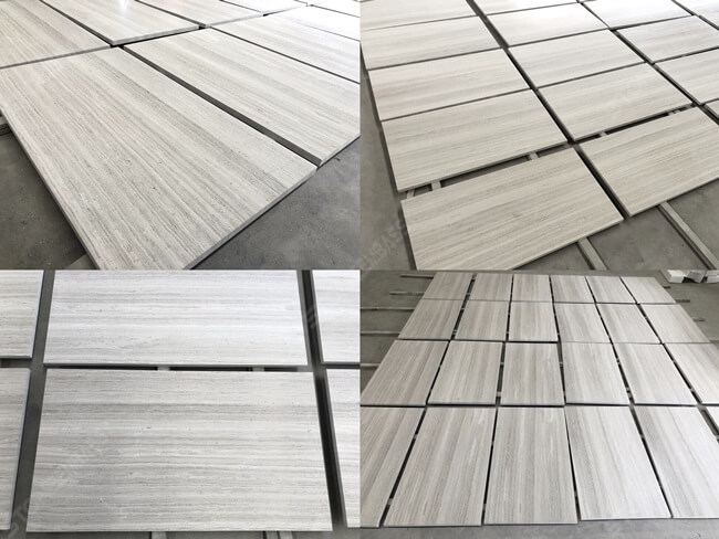 White Wooden Tile Layout