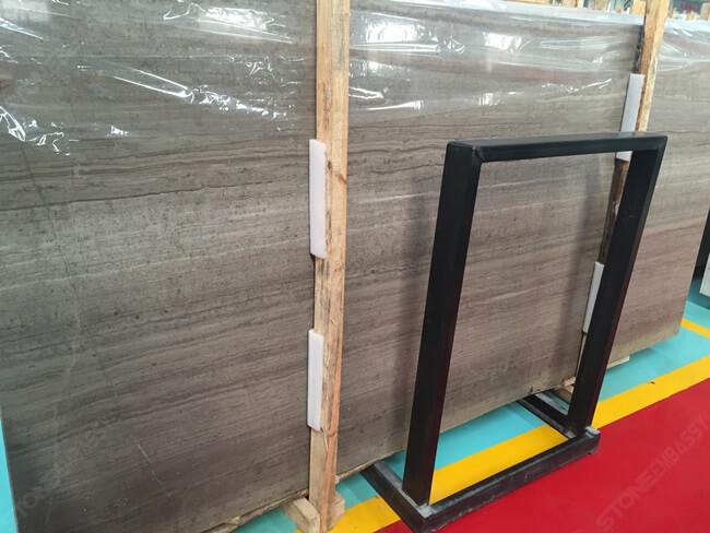 grey wood marble big slab dark color