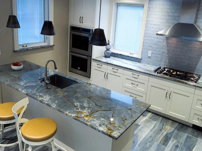 Roma Blue Kitchen countertop